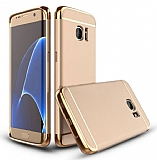 Eiroo Trio Fit Samsung Galaxy S7 Edge 3ü 1 Arada Gold Rubber Kılıf