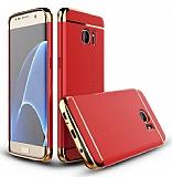 Eiroo Trio Fit Samsung Galaxy S7 Edge 3ü 1 Arada Kırmızı Rubber Kılıf