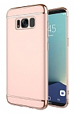 Eiroo Trio Fit Samsung Galaxy S8 Plus 3ü 1 Arada Rose Gold Rubber Kılıf