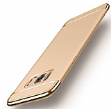 Eiroo Trio Fit Samsung Galaxy S8 Plus 3ü 1 Arada Gold Rubber Kılıf