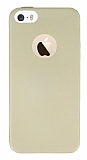 Eiroo Ultra Thin iPhone SE / 5 / 5S Gold Silikon K�l�f