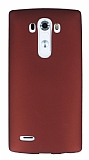 LG G4 Mat Bordo Silikon Kılıf