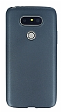 LG G5 Mat Dark Silver Silikon Kılıf