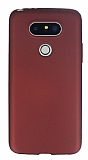 LG G5 Mat Bordo Silikon Kılıf