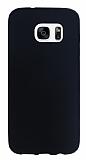 Samsung Galaxy S7 edge Mat Siyah Silikon Kılıf