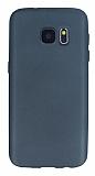 Samsung Galaxy S7 Mat Dark Silver Silikon Kılıf