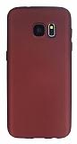 Samsung Galaxy S7 Mat Bordo Silikon Kılıf