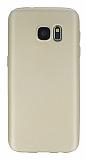Samsung Galaxy S7 Mat Gold Silikon Kılıf