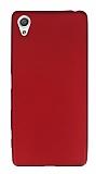 Sony Xperia X Mat Bordo Silikon Kılıf