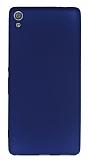 Sony Xperia XA Ultra Mat Lacivert Silikon Kılıf