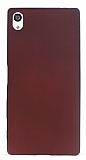 Eiroo Ultra Thin Sony Xperia Z5 Premium Bordo Silikon Kılıf