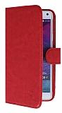 Eiroo Universal XL Vantuzlu Standlı Kırmızı Deri Kılıf