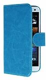 Eiroo Universal Medium Vantuzlu Standlı Mavi Deri Kılıf