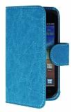 Eiroo Universal Small Vantuzlu Standlı Mavi Deri Kılıf