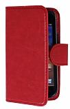 Eiroo Universal Small Vantuzlu Standlı Kırmızı Deri Kılıf
