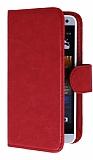 Eiroo Universal Medium Vantuzlu Standlı Kırmızı Deri Kılıf