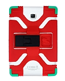 Eiroo Universal Standlı Silikon Tablet Kırmızı Kılıfı 10 inç