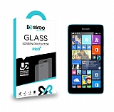 Eiroo Microsoft Lumia 535 Tempered Glass Cam Ekran Koruyucu