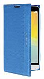LG L Bello Gizli Mıknatıslı Standlı Mavi Deri Kılıf