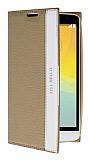 LG L Bello Gizli Mıknatıslı Standlı Gold Deri Kılıf