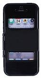 Eiroo View Armor iPhone 5 / 5S Pencereli Siyah K�l�f