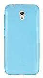 Vodafone Smart 7 Style Ultra İnce Şeffaf Mavi Silikon Kılıf