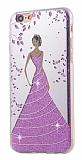 Eiroo Wedding iPhone 6 Plus / 6S Plus Silikon Kenarlı Mor Rubber Kılıf