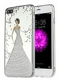 Eiroo Wedding iPhone 7 Plus Silikon Kenarlı Silver Rubber Kılıf