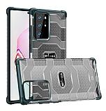 Eiroo Wlons Samsung Galaxy Note 20 Ultra Süper Koruma Koyu Yeşil Kılıf