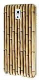 Eiroo Wooden Samsung N9000 Galaxy Note 3 Metal Kenarlı Bambu Rubber Kılıf