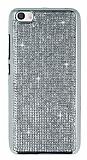 Eiroo Xiaomi Mi 5 Taşlı Silver Silikon Kılıf