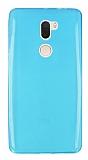 Xiaomi Mi 5s Plus Ultra İnce Şeffaf Mavi Silikon Kılıf