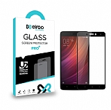 Eiroo Xiaomi Redmi Note 4X Curve Tempered Glass Full Siyah Cam Ekran Koruyucu