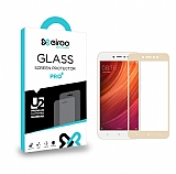 Eiroo Xiaomi Redmi Note 5A Curve Tempered Glass Gold Full Cam Ekran Koruyucu