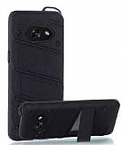 Eiroo Zag Armor Samsung Galaxy A3 2017 Standlı Ultra Koruma Siyah Kılıf