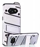 Eiroo Zag Armor Samsung Galaxy A5 2017 Standlı Ultra Koruma Silver Kılıf