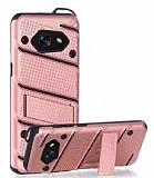Eiroo Zag Armor Samsung Galaxy A5 2017 Standlı Ultra Koruma Rose Gold Kılıf