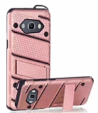 Eiroo Zag Armor Samsung Galaxy J5 2016 Standlı Ultra Koruma Rose Gold Kılıf