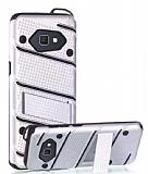 Eiroo Zag Armor Samsung Galaxy J7 Prime / J7 Prime 2 Standlı Ultra Koruma Silver Kılıf