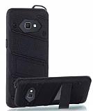 Eiroo Zag Armor Samsung Galaxy J7 Prime Standlı Ultra Koruma Siyah Kılıf