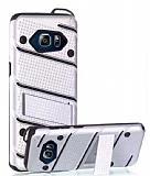 Eiroo Zag Armor Samsung Galaxy Note 5 Standlı Ultra Koruma Silver Kılıf