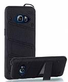 Eiroo Zag Armor Samsung Galaxy Note 5 Standlı Ultra Koruma Siyah Kılıf