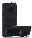 Eiroo Zag Armor Samsung Galaxy S7 Edge Standlı Ultra Koruma Siyah Kılıf