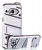 Eiroo Zag Armor Samsung Galaxy S8 Plus Standlı Ultra Koruma Silver Kılıf