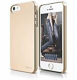 Elago iPhone 5 / 5S S5 Slim Fit 2 Series Gold Rubber K�l�f