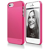 Elago iPhone 5 / 5S S5 OutFit Series Mat Pembe Rubber K�l�f