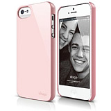 Elago iPhone 5 / 5S S5 Slim Fit 2 Series �eker Pembe Rubber K�l�f