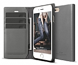 Elago iPhone 6 / 6S Kapakl� Gri Deri K�l�f