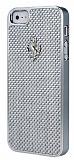Ferrari iPhone 5 / 5S Karbon Fiber Metal Gri K�l�f