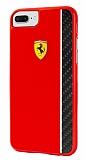 Ferrari iPhone 7 Plus Kırmızı Rubber Kılıf